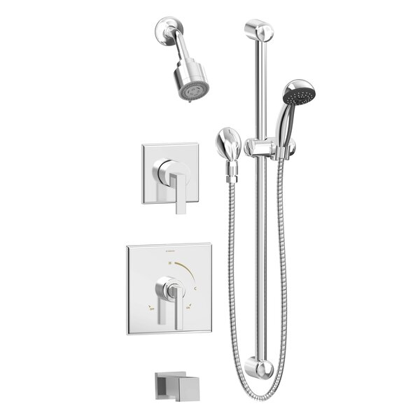 Duro 2-Handle And 3-Spray Pressure-Balanced Tub And Shower Faucet By Symmons