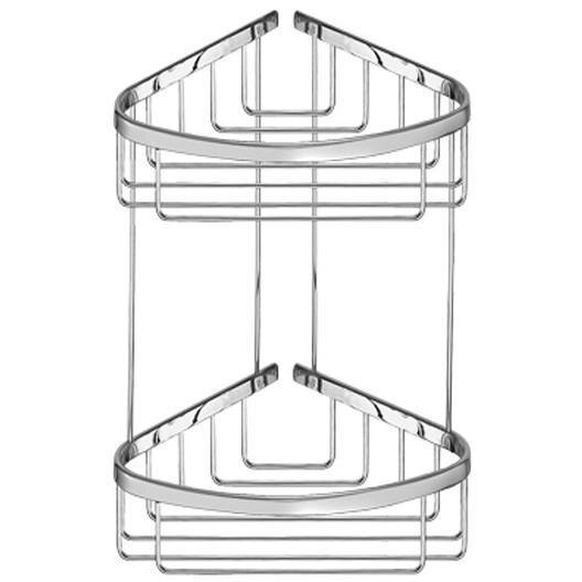Knott Wall Mount Corner Shower Caddy Double Shelf Organizer by Symple Stuff