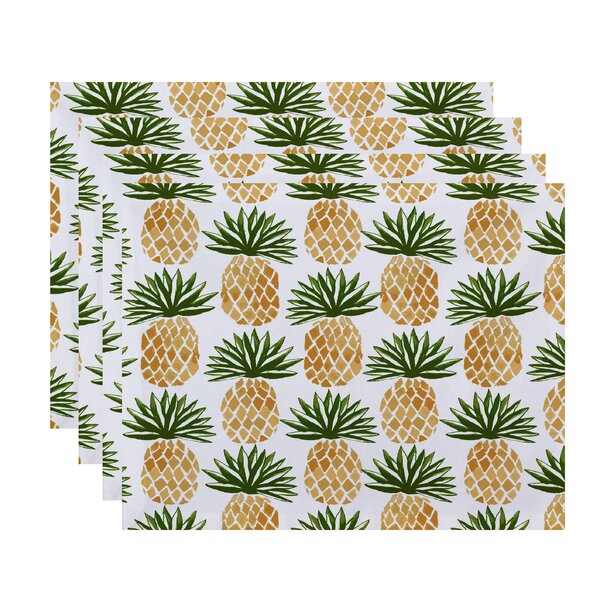 Costigan Pineapple Stripes Placemat (Set of 4) by Bay Isle Home