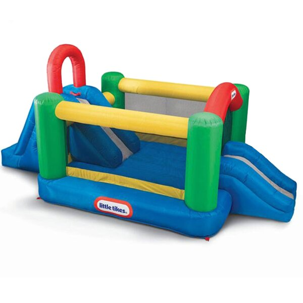 Jump and Double Slide Bounce House by Little Tikes