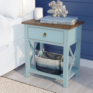 Landau 1 Drawer Nightstand by Beachcrest Home
