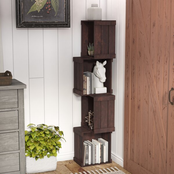 Echeverria Corner Unit Bookcase by Laurel Foundry Modern Farmhouse