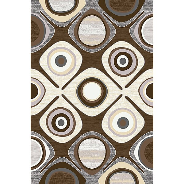 Mccampbell 3D Hand Carved Brown/Beige Area Rug by Ivy Bronx