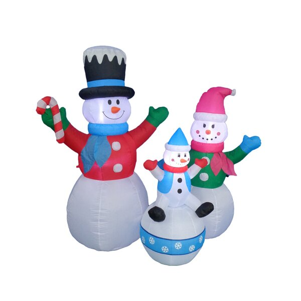 Happy Snowmen Family Christmas Decoration by BZB Goods