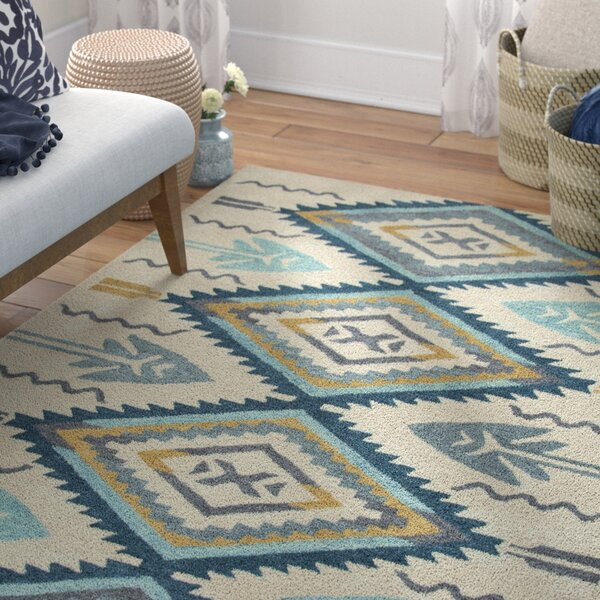 Pascal Hand-Tufted Aqua Area Rug by Mistana