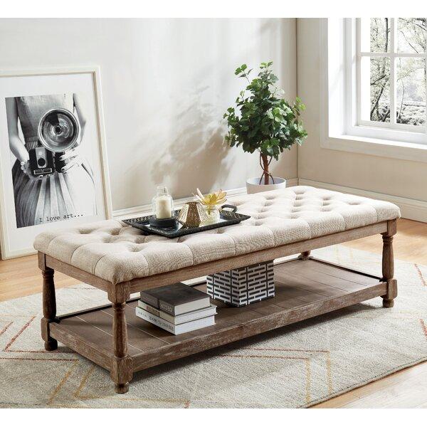 Emmert Upholstered Shelves Storage Bench by Gracie Oaks Gracie Oaks
