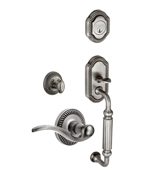 Newport S-Grip Left Hand Door Lever by Grandeur