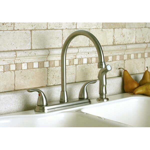 Westlake Double Handle Kitchen Faucet with Side Spray by Premier Faucet
