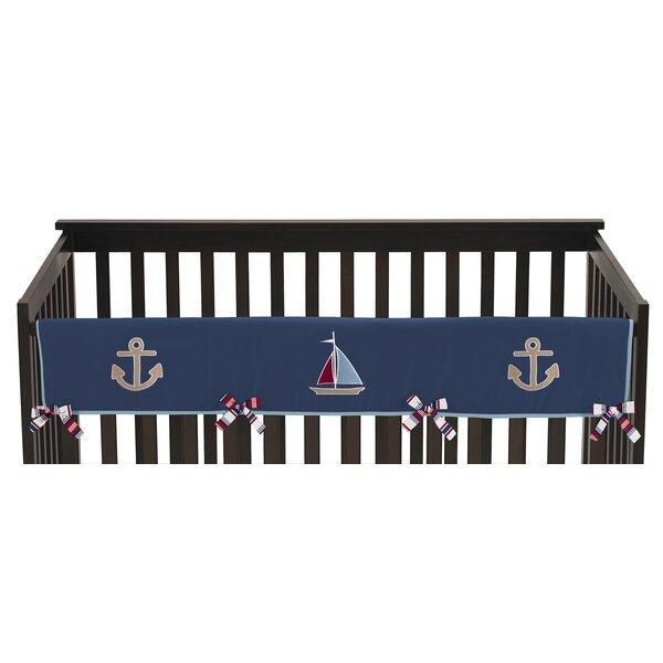Nautical Nights Long Crib Rail Guard Cover by Sweet Jojo Designs