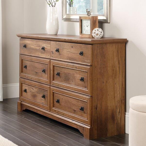 Orviston 6 Drawer Double Dresser by Three Posts