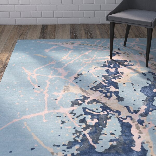 Schaub Hand-Tufted Blue Area Rug by Wrought Studio