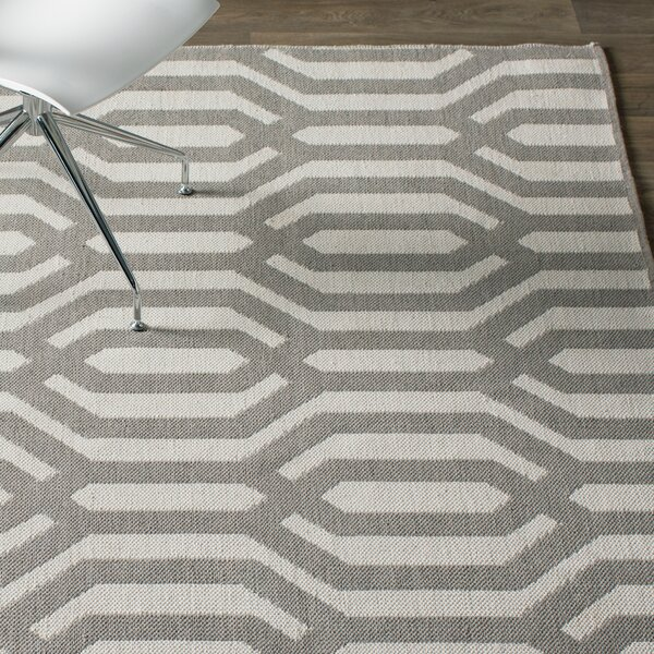 Camillei Cream/Gray Indoor/Outdoor Area Rug by Willa Arlo Interiors