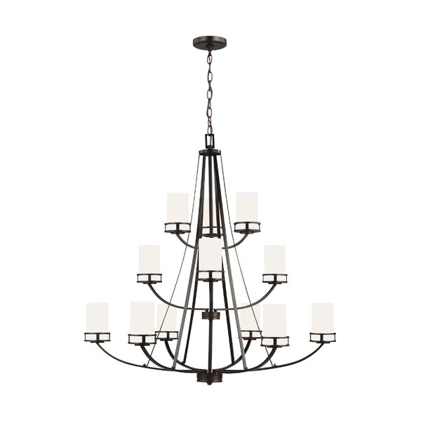 12 - Light Shaded Tiered Chandelier by Andover Mills Baby & Kids Andover Mills Baby & Kids
