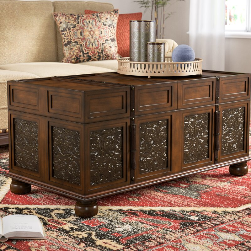 Andalusia Vintage Coffee Table: World Menagerie Andalusia Storage Coffee Table Trunk