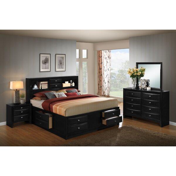 Savell Wood Storage Platform 4 Piece Bedroom Set by Charlton Home