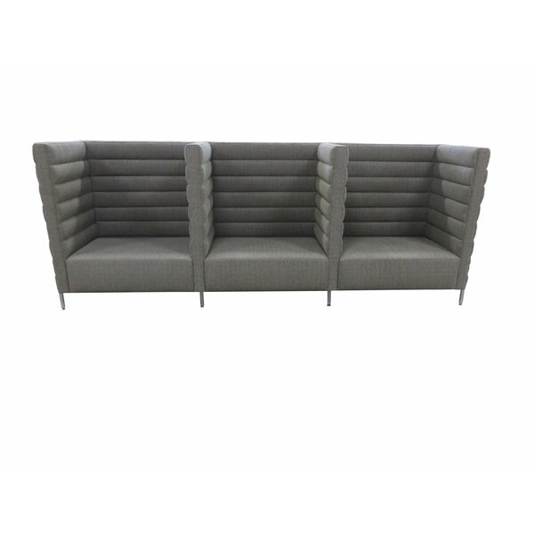 Horizontal Channel Banquette Upholstered Bench by TLS by Design Custom Furniture