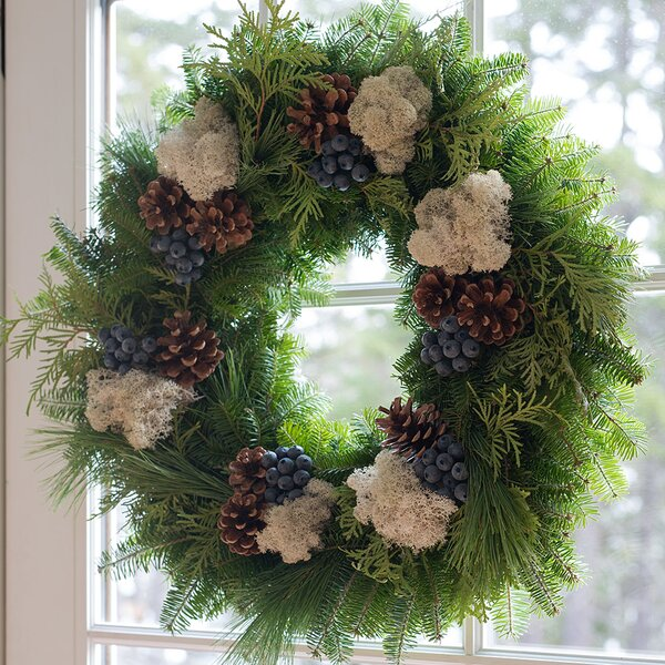 22 Fresh Blueberry Christmas Wreath by Harbor Farm