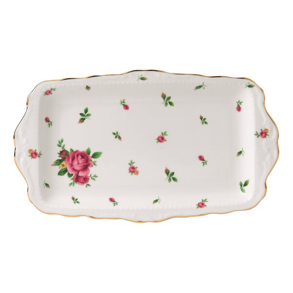 New Country Roses Formal Vintage Rectangular Serving Tray by Royal Albert