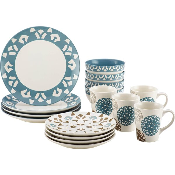 Rachael Ray 16-Piece Dinnerware Set in Print by Rachael Ray