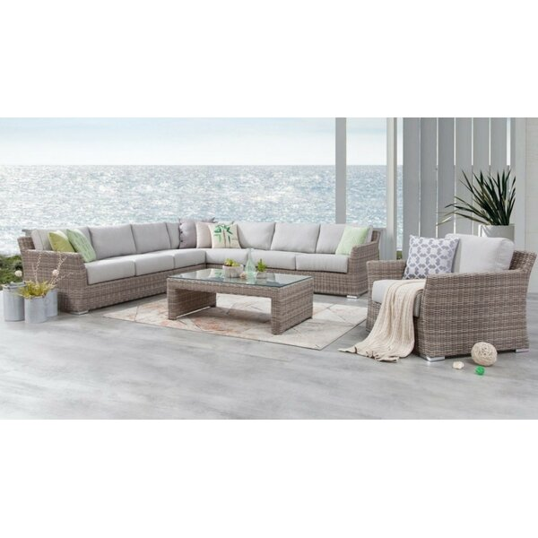 Soto 7 Piece Rattan Sectional Seating Group with Cushions by Bayou Breeze