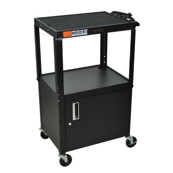AV Cart with Cabinet by H. Wilson Company