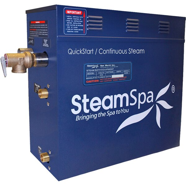 Oasis 10.5 kW QuickStart Steam Bath Generator Package with Built-in Auto Drain by Steam Spa