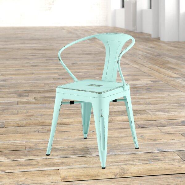 Ellery Metal Arm Chair (Set of 4) by Trent Austin Design
