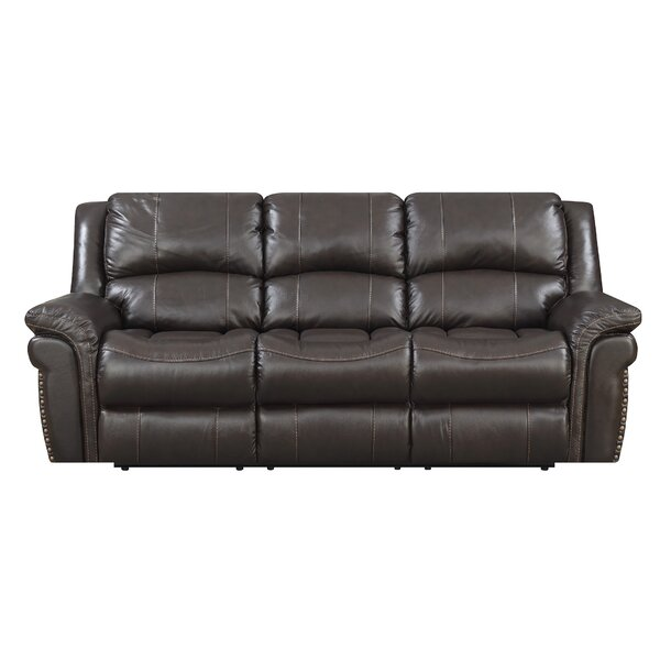 Looking for Everardo Leather Reclining Sofa By Darby Home Co Bargain
