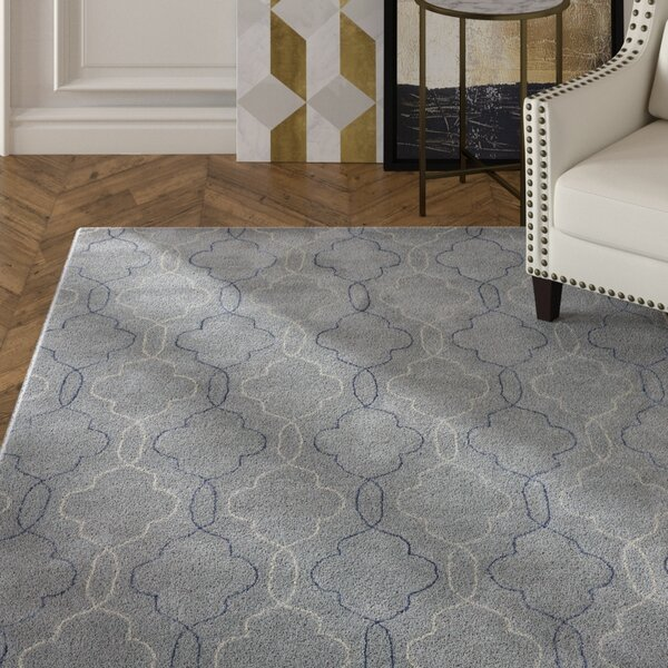 Kamena Hand-Tufted Gray/Blue Area Rug by Mercer41
