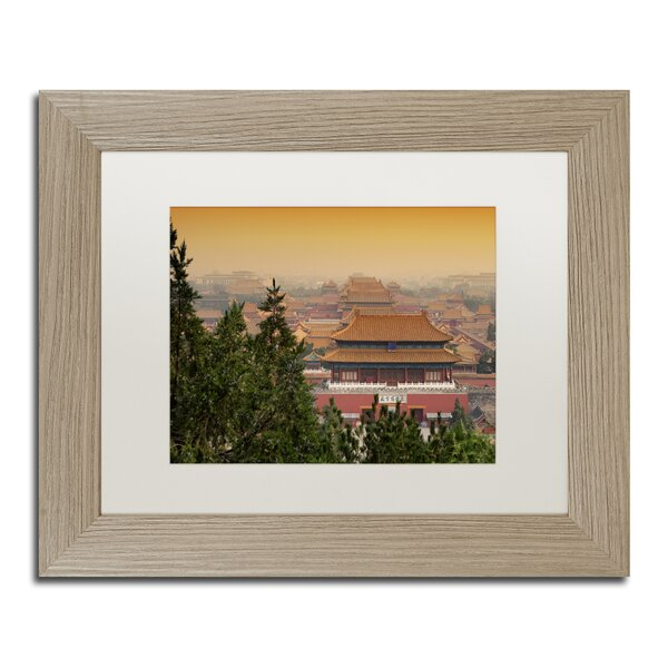 Red Sunset by Philippe Hugonnard Framed Photographic Print by Trademark Fine Art