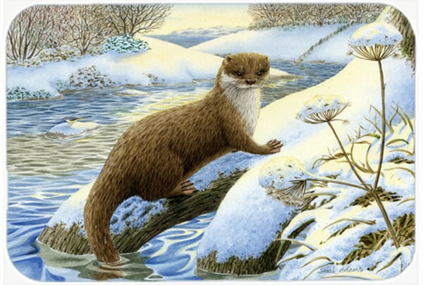 Winter Otter Kitchen/Bath Mat by Caroline's Treasures