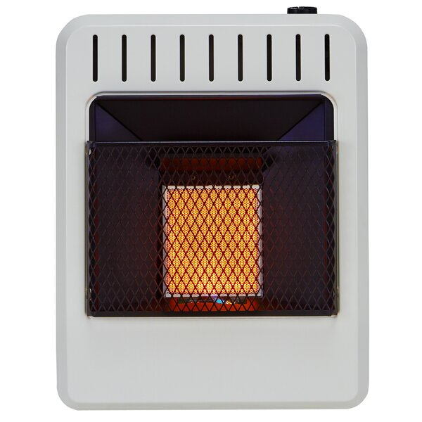 Ventless 10,000 BTU Natural Gas/Propane Infrared Wall Mounted Heater with Automatic Thermostat by Avenger