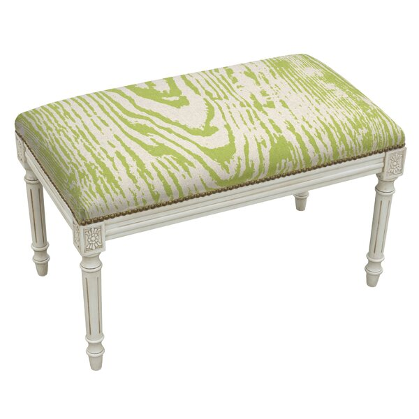 Frey Upholstered and Wood Bench by Bungalow Rose