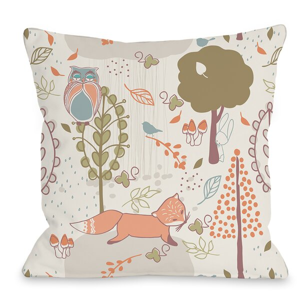 Autumn Critters Throw Pillow by One Bella Casa