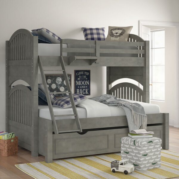 Burroughs Twin Over Full Bunk Bed With Trundle By Kitsco by Kitsco Cool