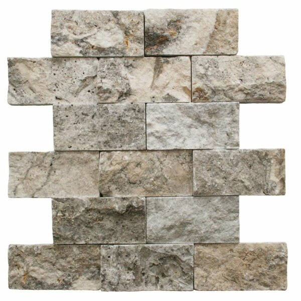 2 x 4 Travertine Brick Joint Mosaic Wall & Floor Tile