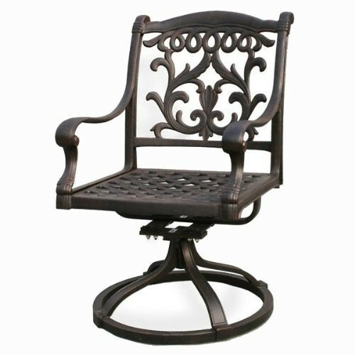 Simms Swivel Patio Dining Chair by One Allium Way