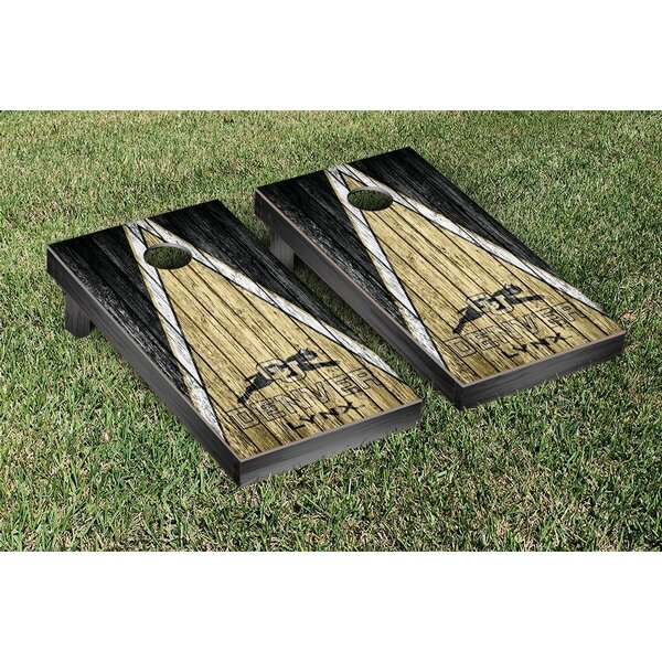 Colorado Denver Lynx Triangle Weathered Version Cornhole Game Set by Victory Tailgate