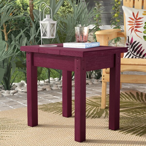 Sandiford Plastic Side Table by Beachcrest Home
