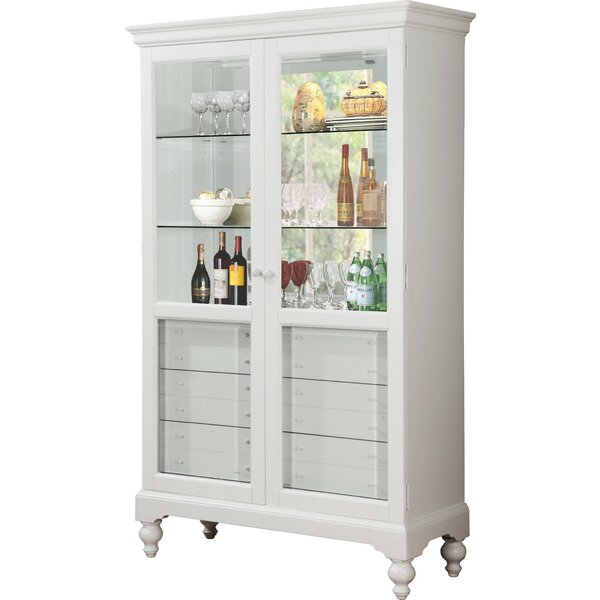 Paquette Wood Curio 6 Drawer Accent Cabinet by Canora Grey