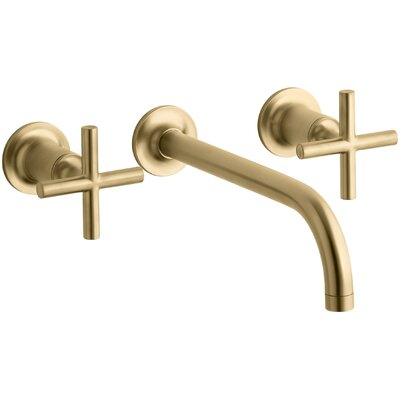 Faucet Wall Mounted Moderne Brushed Gold photo