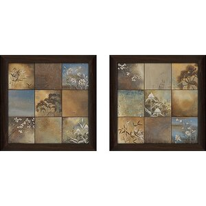 'Spa Collection' 2 Piece Framed Acrylic Painting Print Set Under Glass by Zipcode Design
