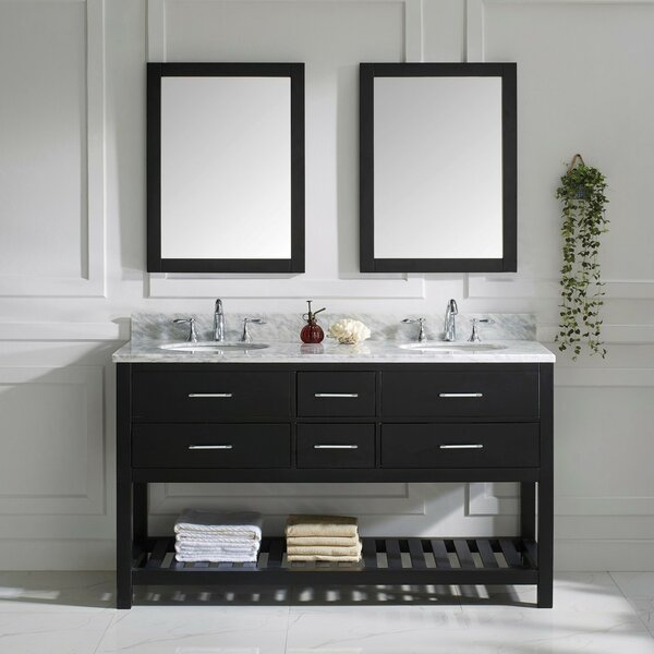Rishaan 61 Double Bathroom Vanity Set with Mirror by Willa Arlo Interiors