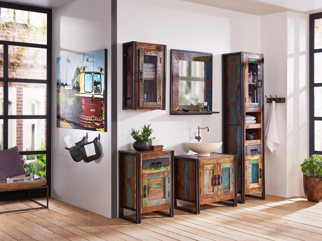 massivum 5 tlg badm bel set quebec mit spiegel. Black Bedroom Furniture Sets. Home Design Ideas