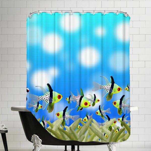 Fish Aquarium Design Shower Curtain by East Urban Home