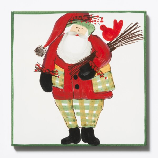 Old St. Nick Border Trivet with Wood Pile by VIETRI