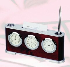 Wood Tabletop Clock by Darby Home Co