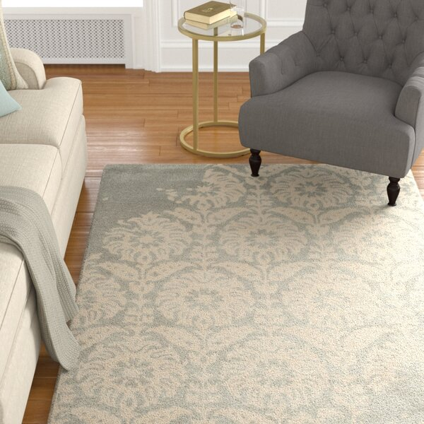 Fernville Hand-Tufted Light Grey/Ivory Area Rug by Charlton Home