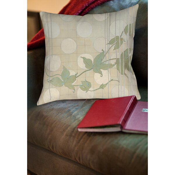 Summer Vine 2 Printed Throw Pillow by Manual Woodworkers & Weavers