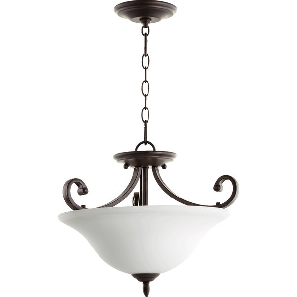 Asheville 3-Light Bowl Pendant by Andover Mills